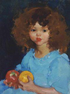 Martha Walter (1875-1976) Girl with