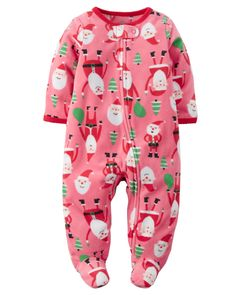 Baby Girl Fleece Zip-Up Christmas Sleep & Play from Carters.com. Shop clothing & accessories from a trusted name in kids, toddlers, and baby clothes.