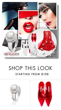 """""""Exquisite with www.braganzia.com"""" by fl4u ❤ liked on Polyvore featuring Manolo Blahnik and braganzia"""