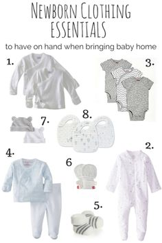 Newborn clothes to have on hand when bringing a baby home