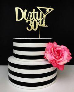 30th birthday Cake Topper dirty thirty dirty 30 cake topper