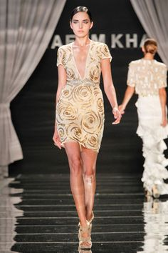 this would look so funky with a pajami suit......Naeem khan spring 12 rtw