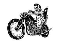 New Skeleton Motorcycle Tattoo Skull Art Ideas Motorcycle Tattoos, Motorcycle Art, Bike Art, Motorcycle Birthday, Bike Drawing, Cafe Racer Style, Skull Art, Graffiti, Character Design