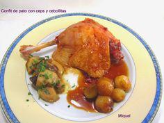 Les receptes del Miquel: Confit de pato con Ceps y cebollitas