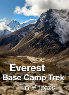 Everest Base Camp Trek in Photos.  See how gorgeous the Himalayas in Nepal are. Trekking to Everest, staying in towns like Lukla, Namche Bazaar, Tengoche, and Gorak Shep along the way.