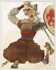 Don Quixote/ Miguel De Cervantes, retold by Martin Jenkins/ Walker Books, Illustrator: Chris Riddell Chris Riddell, Dom Quixote, Quentin Blake, Retelling, Writing Inspiration, Great Books, Cartoon Art, Illustration Art, Book Illustrations