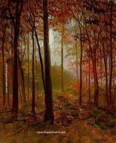Albert Bierstadt The Red Woods, painting