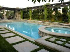 I totally want a pool.... as long as I don't have to maintain it.   tuscany inspired backyard pool