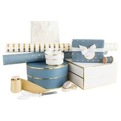 Sugar Paper® Navy Gift Wrap Collection : Target