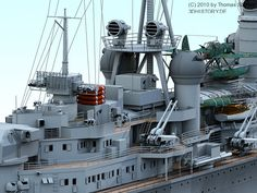 German Heavy Cruiser Prinz Eugen in 3D.