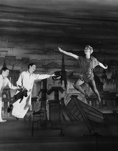 Mary Martin in the Broadway musical Peter Pan, 1954
