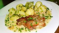 Krkovička s pažítkovou omáčkou a novými zemiakmi (fotorecept) - Recept