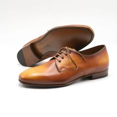 Norman Vilalta Bespoke Shoemakers - Pablo Derby, Gold Semi Unlined Touch Of Gray, Calf Leather, Norman, Bespoke, Derby, Calves, Oxford Shoes, Dress Shoes, Lace Up
