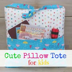 Pocket Pillow Tote f