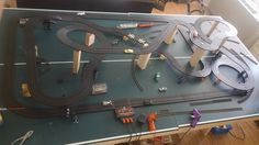 My first attempt at recreating the  Boys Life Grand Prix layout with Tomy track. I had to make some modifications since some of the track sizes are no longer manufactured. Also I made the two straights longer than the original AND I am going to add a model train set to go with it. #AFX #modeltrain #slotcars