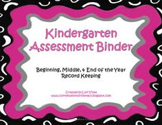 Get Organized with Assessment Data: Kindergarten Data Assessment Binder- keep track of the data from beginning, middle and end of the year assessments so you can make better curriculum decisions. Kindergarten Assessment, Kindergarten Literacy, Letter Assessment, Teaching Tools, Teacher Resources, Teaching Ideas, Data Binders, Data Notebooks, Common Core Curriculum