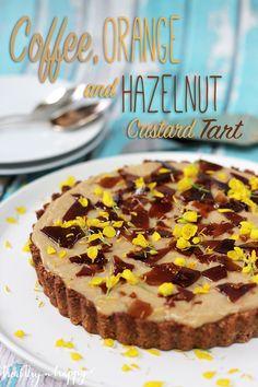 {Vegan and refined sugar free} Coffee, Orange and Hazelnut Custard Tart (GF)- Healthy 'n Happy