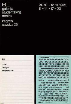 BorisBućan,TD total design amsterdam, Student Center Gallery, silkscreen, 1972