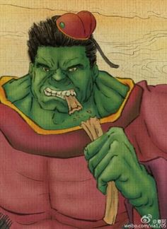 What If the Avengers Became the 8 Taoist Immortals of Chinese Mythology? The Hulk as a giant-sized Taoist. That must mean he finally learned to control his temper, but maybe not his appetite. http://www.visiontimes.com/2015/04/09/what-if-the-avengers-became-the-8-taoist-immortals-of-chinese-mythology.html