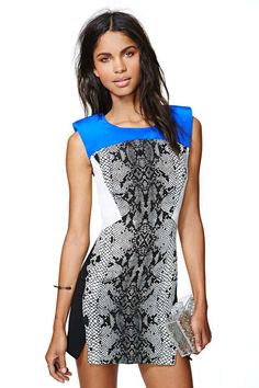 Shakuhachi Serpent Charmer Silk Dress | www.nastygal.com (216,14€)