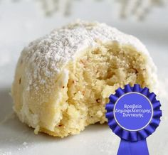 Easy Sweets, Sweets Recipes, Cookie Recipes, Greek Sweets, Greek Desserts, Macaron Recipe, Coconut Macaroons, Cupcakes, Homemade Ice Cream