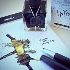 J. Herbin 1670 ink Stormy Gray - ahhh! it's so beautiful.