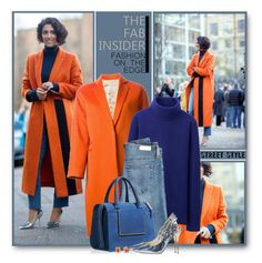 """Orange Coat"" by brendariley-1 ❤ liked on Polyvore featuring Alberto Biani, Uniqlo, AG Adriano Goldschmied, Roger Vivier, Sophia Webster and Marc by Marc Jacobs"