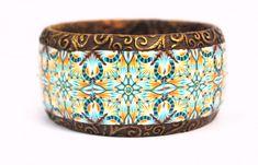fantastic poly clay kaleidoscope cane bangle bracelet!