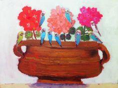 Geraniums and Budgies - Vanessa Cooper                                                                                                                                                                                 Mehr
