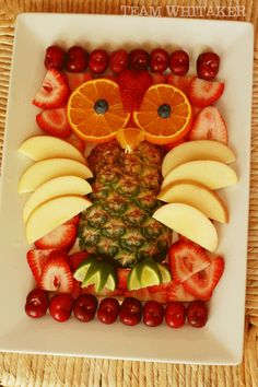 Owl fruit tray. Super cute, but I think it would basically just be decoration at a party, otherwise you'd need to remake the owl over and over?