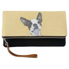 #Boston Terrier Clutch - #boston #terrier #puppy #dog #dogs #pet #pets #cute #bostonterrier