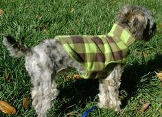 Sew this cozy fleece dog coat with this FREE pattern and tutorial. - Sew this cozy fleece dog coat with this FREE pattern and tutorial. Dog Coat Pattern, Jacket Pattern, Fleece Dog Coat, Dog Clothes Patterns, Coat Patterns, Quilt Patterns, Sewing Patterns, Dog Jacket, Dog Sweaters