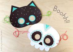 Vos masques à télécharger pour Halloween ! | HappyBulle - Le Blog