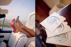 Glitter silver shoes. Travel theme wedding invitations.  www.comobranco.com @marryinportugal #comobranco