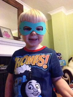 Superhero mask (child also made by me, haha) x