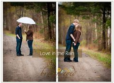 Engagement Photography in Plattsburgh, NY = rainy spring day love