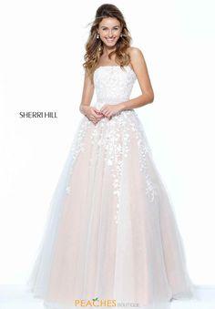 Strapless A Line Sherri Hill Dress 50864