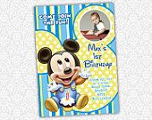 Baby Mickey Mouse Invite.