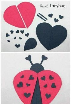 with hearts- avec des coeurs Lots of heart shape animal ideas ~ simple Valentine& Day crafts: - Valentine's Day Crafts For Kids, Valentine Crafts For Kids, Daycare Crafts, My Funny Valentine, Valentines For Kids, Toddler Crafts, Preschool Crafts, Holiday Crafts, Fun Crafts