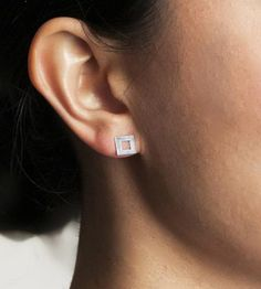 Hollow Square Sterling Silver Earrings by Soluna Soluna on Scoutmob Shoppe