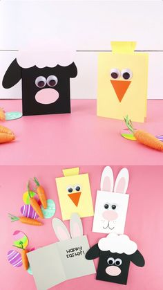 Homemade Cards Discover Fun and Easy Easter Cards for Kids These adorable Easter cards for kids to make are simple and fun for kids of all ages. Learn how to make a cute bunny card lamb card and chick card. Easter Card Sayings, Diy Easter Cards, Easter Art, Bunny Crafts, Easter Crafts For Kids, Thanksgiving Crafts, Handmade Easter Cards, Easter Eggs, Christmas Crafts