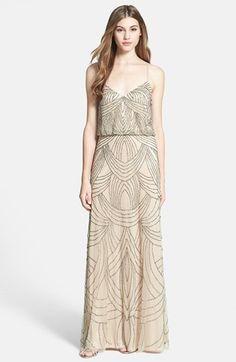 Adrianna Papell Beaded Chiffon Blouson Dress on shopstyle.com
