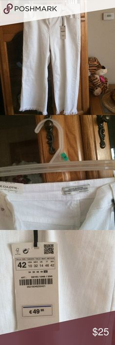 Women ZARA DENIM Colection jeans NWT, white, size 10 USA, 42 Tallia( look tag). Mex 32. Stretc material. Zara Jeans
