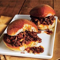 Beef and Mushroom Sloppy Joes. These sloppy joes will leave you wanting sloppy seconds. Beef Recipes, Cooking Recipes, Healthy Recipes, Hamburger Recipes, Diabetic Recipes, Easy Recipes, Clean Eating Recipes, Healthy Eating, Eating Clean