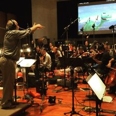 #GoodDinosaur orchestra days #WarnerBrothersStudio  #EastwoodScoringStage Nick the Stick conducting the fabulous players LA studio orchestra