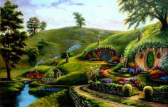 The Shire.It is the most beautiful place in the world. I will go there one day...