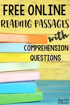 Free online reading passages with comprehension questions