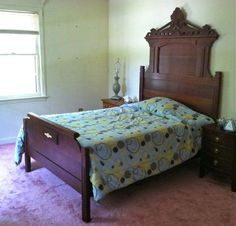 1800's Eastlake Bed