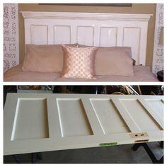 Headboard Diy, Panel Door Repurposed, King Headboard. Old Door Headboard.