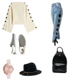 """Untitled #6"" by maria-daria-i on Polyvore featuring Petar Petrov, Sans Souci, Vans, Eugenia Kim, Olivia Burton and Givenchy"